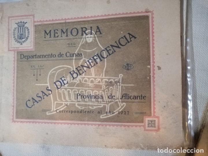 Coleccionismo Álbum: Libreto de memorias casas de la beneficencia 1927 - Foto 3 - 179402182