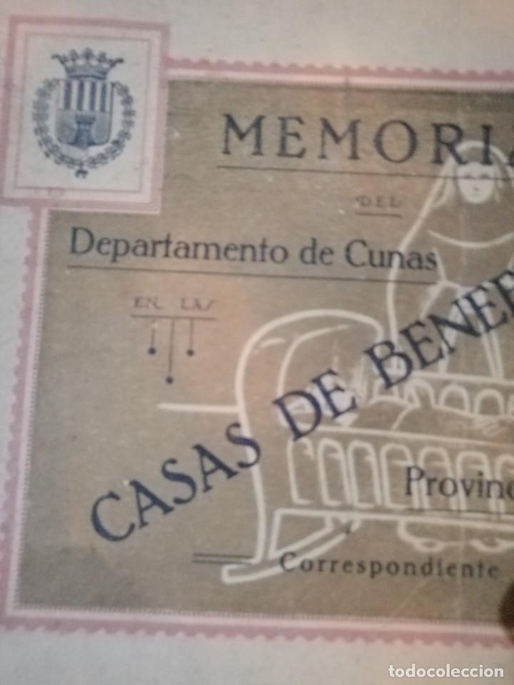 LIBRETO DE MEMORIAS CASAS DE LA BENEFICENCIA 1927 (Coleccionismo - Cromos y Álbumes - Álbumes Completos)