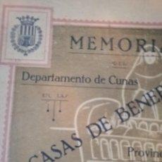 Coleccionismo Álbum: LIBRETO DE MEMORIAS CASAS DE LA BENEFICENCIA 1927. Lote 179402182