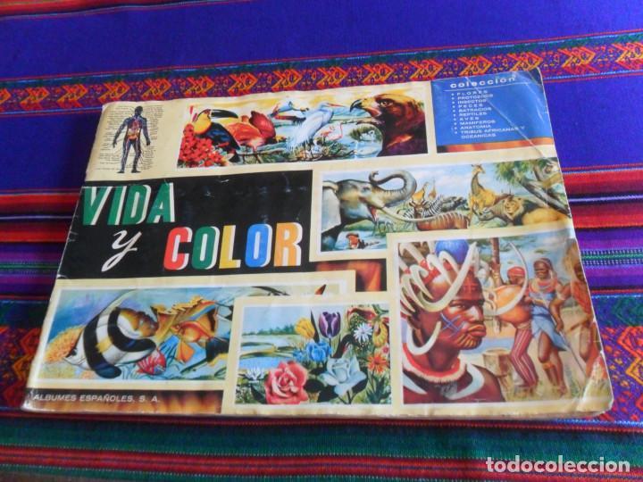 VIDA Y COLOR 1 COMPLETO 380 CROMOS. ÁLBUMES ESPAÑOLES 1965. (Coleccionismo - Cromos y Álbumes - Álbumes Completos)
