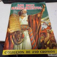 Coleccionismo Álbum: ALBUM CROMOS COMPLETO BRUGUERA LOS DIEZ MANDAMIENTOS. Lote 218767000