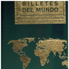 Coleccionismo Álbum: LIBRO ALBUM CON 52 BILLETES EXTRANJEROS NUEVOS SIN CIRCULAR. Lote 219067988