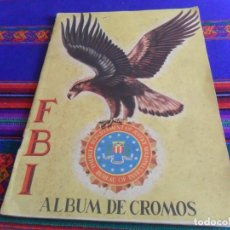 Coleccionismo Álbum: ALBUM DE CROMOS FBI COMPLETO 200 CROMOS. EDITORIAL ROLLÁN AÑOS 50. DIFÍCIL.. Lote 219637307