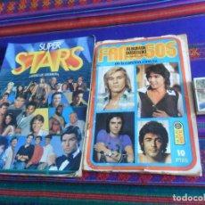 Coleccionismo Álbum: FAMOSOS DE LA CANCIÓN CINE T.V. TV COMPLETO. ESTE 1973. REGALO SUPER STARS INCOMPLETO. ESTE 1986.. Lote 219642750
