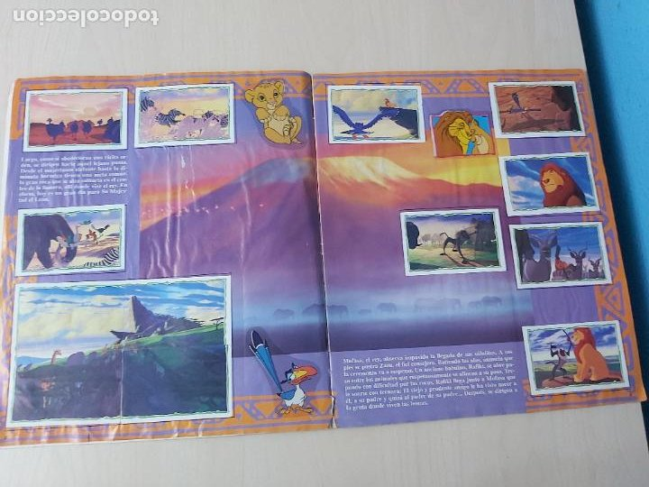 Coleccionismo Álbum: ALBUM DE CROMOS EL REY LEON EDICIONES PANINI 1995 COMPLETO - Foto 6 - 220234703