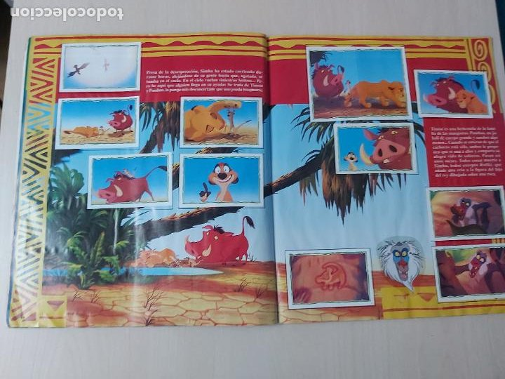Coleccionismo Álbum: ALBUM DE CROMOS EL REY LEON EDICIONES PANINI 1995 COMPLETO - Foto 15 - 220234703