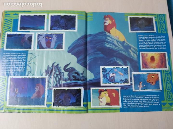 Coleccionismo Álbum: ALBUM DE CROMOS EL REY LEON EDICIONES PANINI 1995 COMPLETO - Foto 19 - 220234703