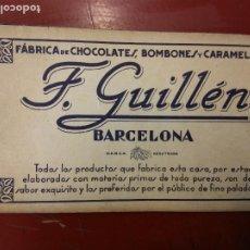 Colecionismo Caderneta: ALBUM DE CROMOS COMPLETO. F. GUILLÉN BARCELONA. FÁBRICA DE CHOCOLATES, BOMBONES Y CARAMELOS.. Lote 220365112