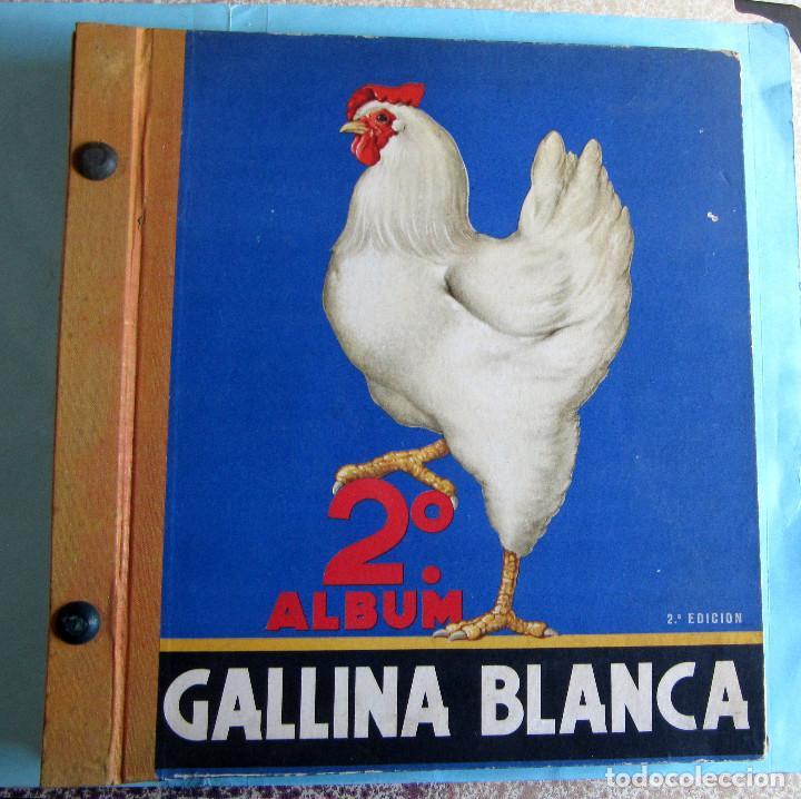2º ALBUM GALLINA BLANCA. COMPLETO CON TODOS LOS CROMOS EDITADOS, 1949. (Coleccionismo - Cromos y Álbumes - Álbumes Completos)