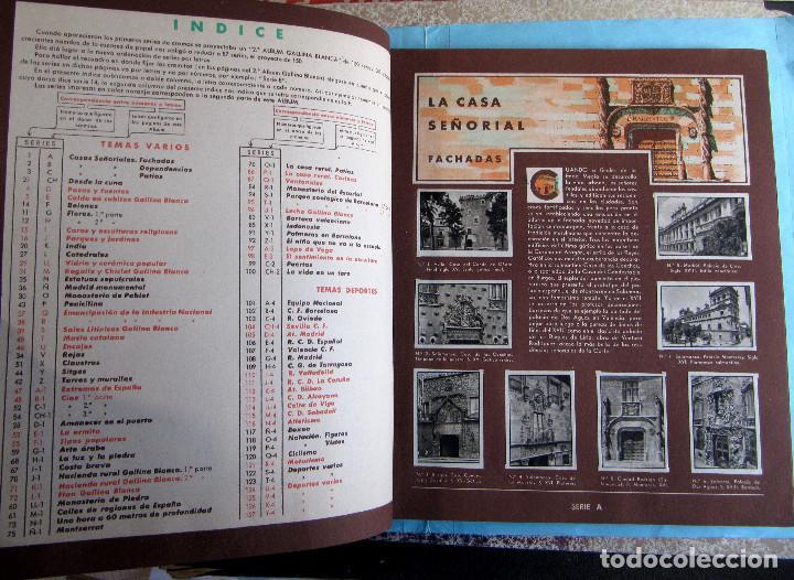 Coleccionismo Álbum: 2º ALBUM GALLINA BLANCA. COMPLETO CON TODOS LOS CROMOS EDITADOS, 1949. - Foto 3 - 220941388