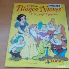 Coleccionismo Álbum: ENVIO CON TC 5€ ALBUM COMPLETO BLANCANIEVES WALT DISNEY COLECCIONES PANINI. Lote 221244453