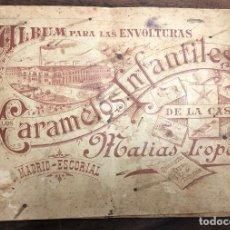Coleccionismo Álbum: ALBUM PARA LAS ENVOLTURAS DE LOS CARAMELOS INFANTILES DE LA CASA MATIAS LOPEZ. FALTA EL 197. Lote 221258448