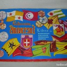 Coleccionismo Álbum: ÁLBUM COMPLETO COLECCIÓN UNIVERSAL DE EDITORIAL ALES AÑO 1962 - BANDERAS, ESCUDOS MONEDAS Y MAPAS -. Lote 221264458