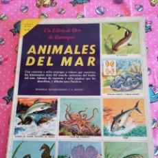 Collezionismo Álbum: LIBRO DE ORO ESTAMPAS ANIMALES DEL MAR 48 ESTAMPAS- CROMOS COMPLETO 1ª EDICION. Lote 221274512