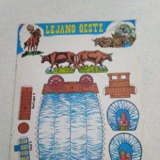 Coleccionismo Álbum: ÁLBUM RECORTABLE LEJANO OESTE, 1989, COMPLETO. Lote 221319680