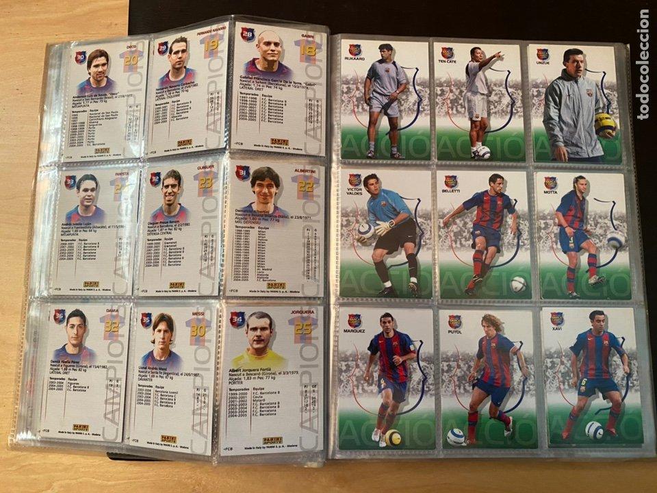 Coleccionismo Álbum: ALBUM DE CROMOS COMPLETO BARÇA CAMPIÓ 2004 2005 DE 142 CROMOS (LOS 3 DE MESSI INCLUIDOS) - Foto 7 - 221484170