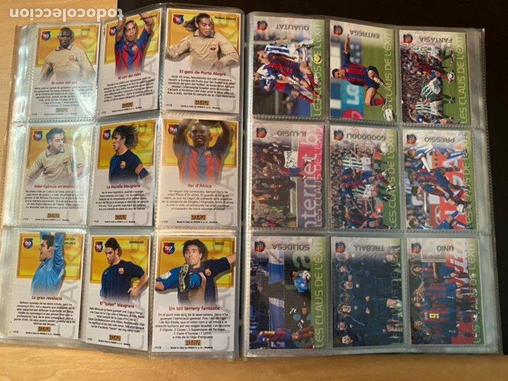Coleccionismo Álbum: ALBUM DE CROMOS COMPLETO BARÇA CAMPIÓ 2004 2005 DE 142 CROMOS (LOS 3 DE MESSI INCLUIDOS) - Foto 14 - 221484170