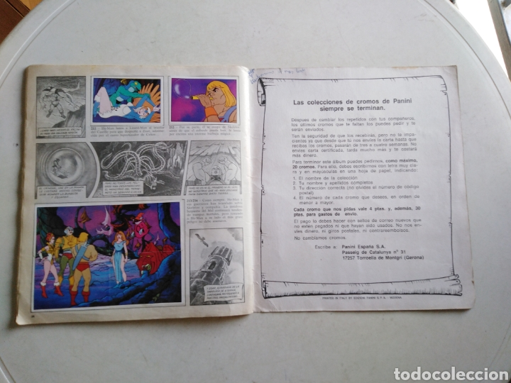 Coleccionismo Álbum: Álbum completo masters of the universe, los amos del universo, 1983 - Foto 20 - 221567810