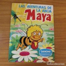 Coleccionismo Álbum: LAS AVENTURAS DE LA ABEJA MAYA. ALBUM DE CROMOS COMPLETO DANONE.. Lote 221744792