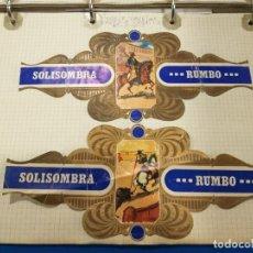 Coleccionismo Álbum: COLECCIÓN DE VITOLAS SERIES TAURINAS SOLISOMBRA. 50 VITOLAS. Lote 221830658