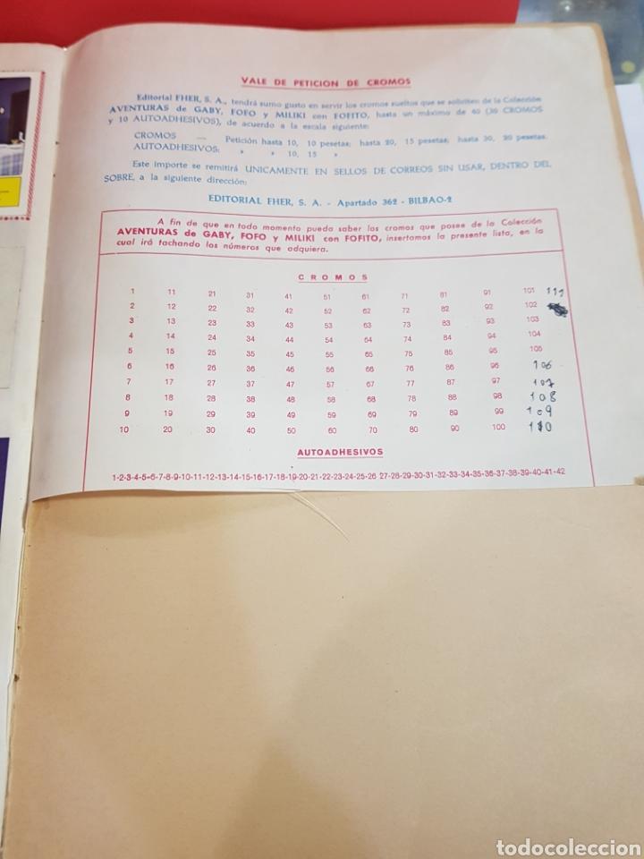 Coleccionismo Álbum: LAS AVENTURAS DE GABY FOFO MILIKI Y FOFITO COMPLETA FHER - Foto 9 - 222101216