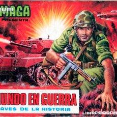 Coleccionismo Álbum: ALBUM CROMOS FACSIMIL EL MUNDO EN GUERRA A TRAVES DE LA HISTORIA 1979 MAGA NUEVO COMPLETO. Lote 222294356