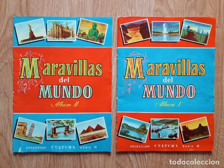 MARAVILLAS DEL MUNDO - I Y II COMPLETOS- BRUGUERA 1956 (Coleccionismo - Cromos y Álbumes - Álbumes Completos)