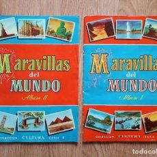 Coleccionismo Álbum: MARAVILLAS DEL MUNDO - I Y II COMPLETOS- BRUGUERA 1956. Lote 222533211