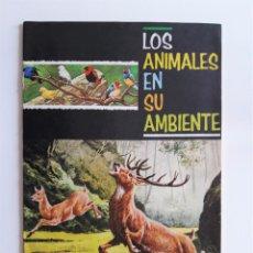 Coleccionismo Álbum: LOS ANIMALES EN SU AMBIENTE - COMPLETO - EDITORIAL FHER 1965. Lote 222541861