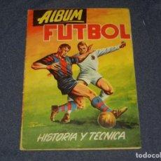 Coleccionismo Álbum: ALBUM FUTBOL HISTORIA Y TECNICA , COMPLETO !!!! EDT EDIGASA, BUEN ESTADO. Lote 222545460