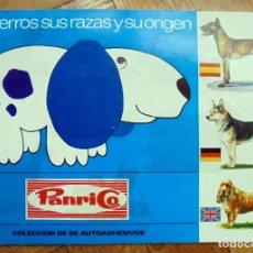 Coleccionismo Álbum: PANRICO - LOS PERROS SUS RAZAS Y SU ORIGEN - ÁLBUM COMPLETO - 1972. Lote 222547425