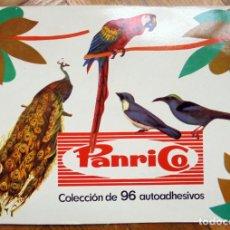 Coleccionismo Álbum: ÁLBUM. PANRICO. COLECCIÓN DE 96 AUTOADHESIVOS. PAJAROS. COMPLETO.. Lote 222548016