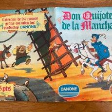 Coleccionismo Álbum: ALBUM DE CROMOS COMPLETO - DON QUIJOTE DE LA MANCHA - DANONE - GCH1. Lote 222553255
