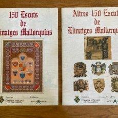 Coleccionismo Álbum: 2 ALBUMES DE CROMOS COMPLETOS - 150 ESCUTS DE LLINATGES MALLORQUINS + ALTRES 150 ESCUTS ... - GCH1. Lote 222555116