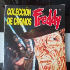 Coleccionismo Álbum: ALBUM CROMOS MONSTRUOS A NIGHTMARE ON ELM STREET FREDDY KRUEGER CUSCÓ COMPLETO MBE. Lote 222660282