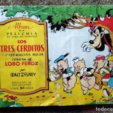 Coleccionismo Álbum: ALBUM CROMOS LOS TRES CERDITOS Y CAPERUCITA ROJA CONTRA EL LOBO FEROZ (COMPLETO) (BRUGUERA AÑOS 40). Lote 222907196