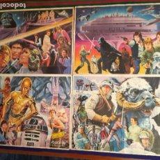 Coleccionismo Álbum: STAR WARS EL IMPERIO CONTRAATACA 4 PÓSTERS YOPLAIT 1980. COMPLETO 48 CROMOS. DE REGALO OJO MENTE.. Lote 22611344