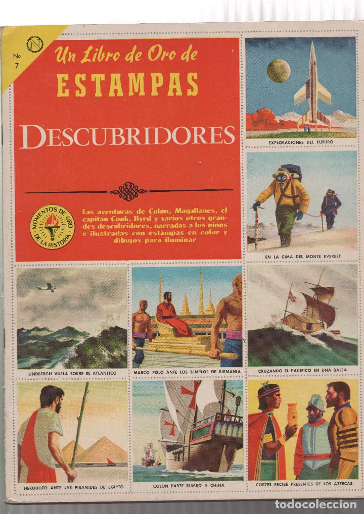 ALBUM DE CROMOS- UN LIBRO DE ORO DE ESTAMPAS DESCUBRIDORES-Nº 7 (Coleccionismo - Cromos y Álbumes - Álbumes Completos)