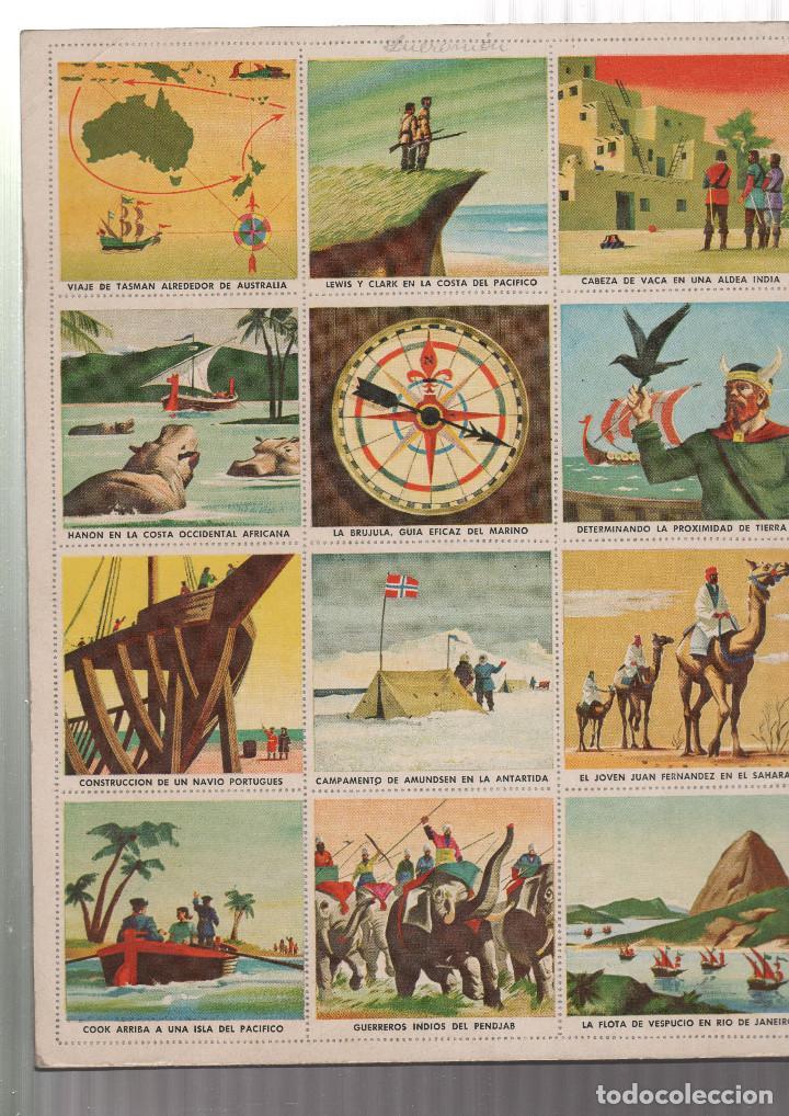 Coleccionismo Álbum: ALBUM DE CROMOS- UN LIBRO DE ORO DE ESTAMPAS DESCUBRIDORES-Nº 7 - Foto 2 - 223493177