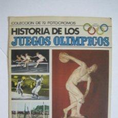 Coleccionismo Álbum: HISTORIA DE LOS JUEGOS OLIMPICOS-72 FOTO CROMOS-ALBUM COMPLETO-CHOCOLATES SULTANA-VER FOTOS-V-22.368. Lote 223506111