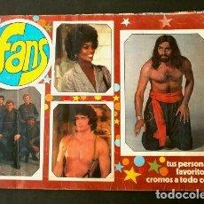 Coleccionismo Álbum: FANS (1976) ED. ESTE (ALBUM COMPLETO) ARTISTAS DE CINE FAMOSOS DE T.V. Y CANTANTES - TELEVISION. Lote 224643343
