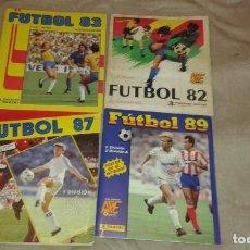 Coleccionismo Álbum: LOTE 4 ÁLBUMES FÚTBOL: PANINI 82, 83 ,87 Y 89. Lote 226775330