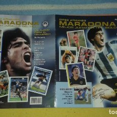 Coleccionismo Álbum: ÁLBUM DE CROMOS DE DIEGO ARMANDO MARADONA EL MEJOR JUGADOR DEL SIGLO. Lote 227840500