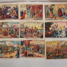 Coleccionismo Álbum: COLECCIÓN COMPLETA 30 CROMOS DESCUBRIMIENTO DE AMÉRICA (FARMACIA ARTIGUES,MALLORCA). Lote 262174365