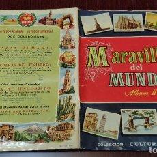 Coleccionismo Álbum: ALBUM DE CROMOS MARAVILLAS DEL MUNDO - ALBUM I (COMPLETO - 3) Y ALBUM II (COMPLETO) (BRUGUERA 1956). Lote 232495400