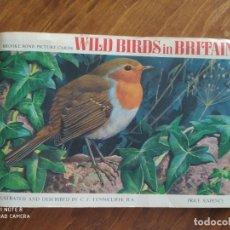 Collezionismo Álbum: JML ALBUM CROMOS WILD BIRDS IN BRITAIN PAJAROS COMPLETO ILUSTRATED AND DESCRIBED BY C.F. TUNNICLIFFE. Lote 233705090