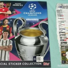 "Coleccionismo Álbum: ALBUM TOPPS. ""UEFA CHAMPIONS LEAGUE 2020/2021"" - ALBUM + FULL SET. Lote 233845085"