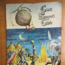 Coleccionismo Álbum: ALBUM DE CROMOS COMPLETO Y ORIGINAL EPOCA / CINCO SEMANAS EN GLOBO / TORAY - MUY BUEN ESTADO. Lote 234372260