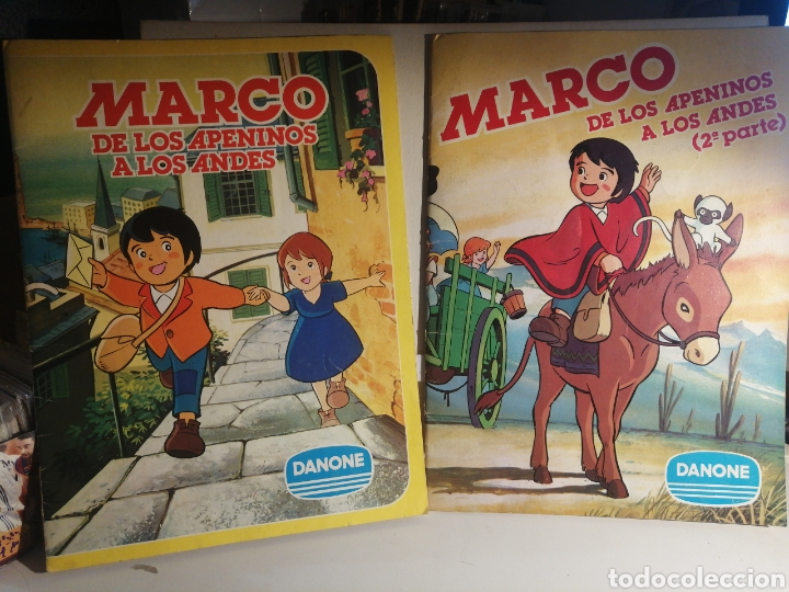 MARCO DE LOS APENINOS A LOS ANDES I Y II, LOS DOS ALBUMES COMPLETOS DANONE (Coleccionismo - Cromos y Álbumes - Álbumes Completos)