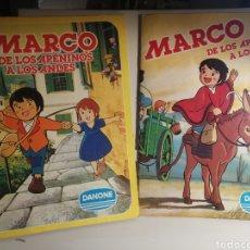 Coleccionismo Álbum: MARCO DE LOS APENINOS A LOS ANDES I Y II, LOS DOS ALBUMES COMPLETOS DANONE. Lote 234857495
